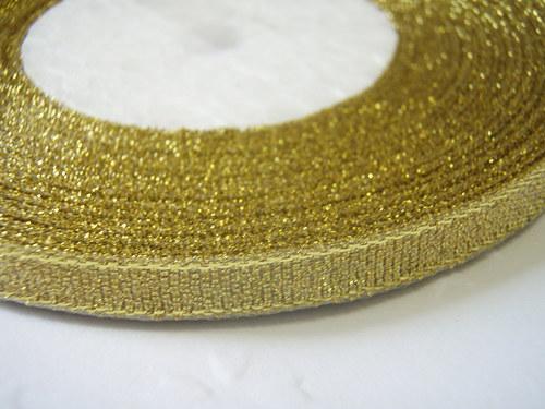 stuha zlatá (1m)