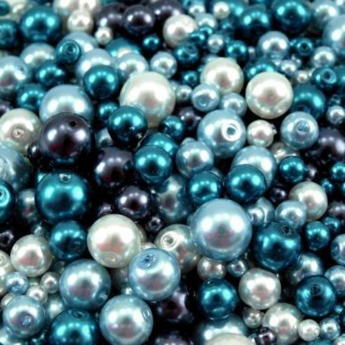 Voskované perly různobarevný MIX Ø4-10mm 50g