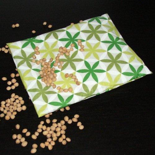 Termopolštářek zelený kytičkový