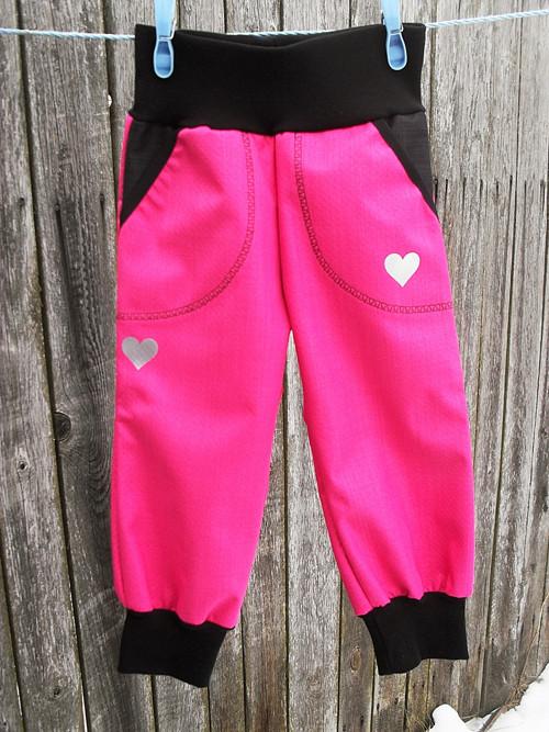 Softshelové kalhoty -růžová