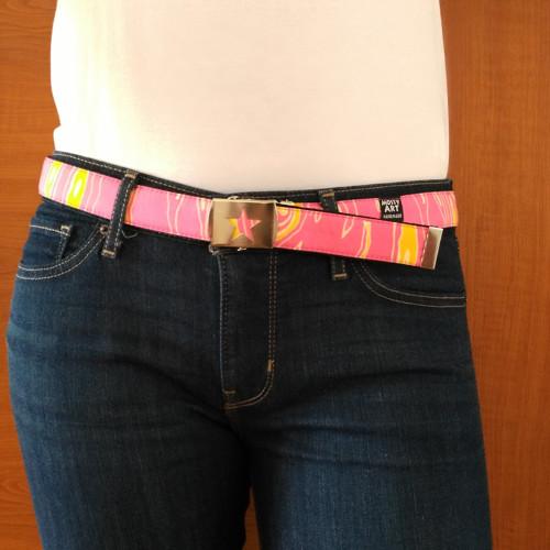 Pásek - růžovo-žlutý