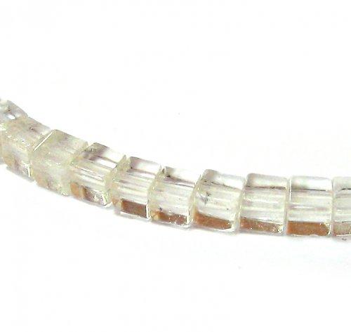 Křišťál kostky - 4 ks