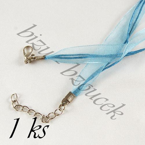 Světle modrý náhrdelník - 1ks