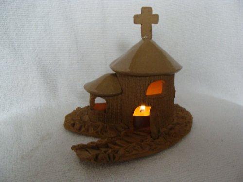 kostelík na čajovou svíčku