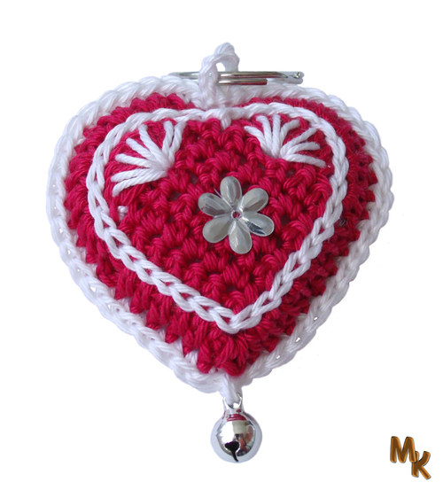 Přívěsek - srdce - červené