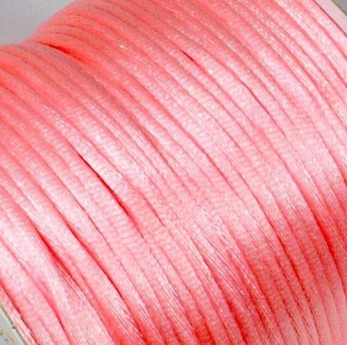 Saténová šňůrka 2 mm / růžová