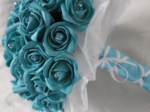 Svatební set - jednoduchá tyrkysová