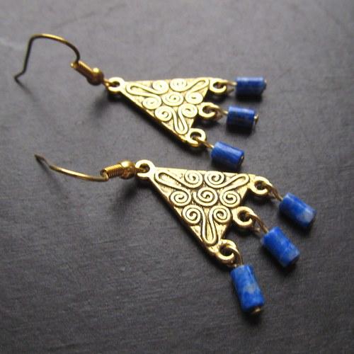 Náušnice orient lapis lazuli
