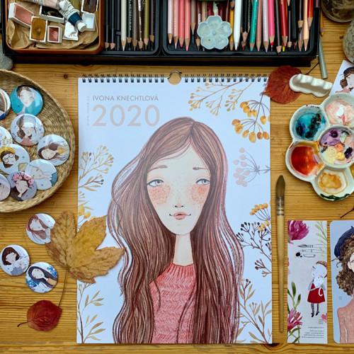 """Kalendář \""""Slečny 2020\"""" 27x37cm"""