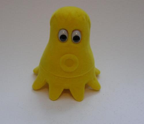 Sametová krabička na šperky - chobotnice žlutá