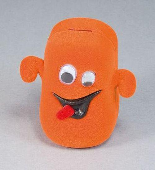 Sametová krabička na šperky - oranžový duch
