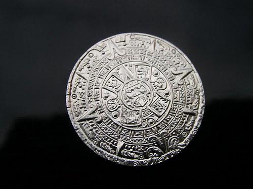 mince - Aztécký kalendář s lodí Ag 925/1000