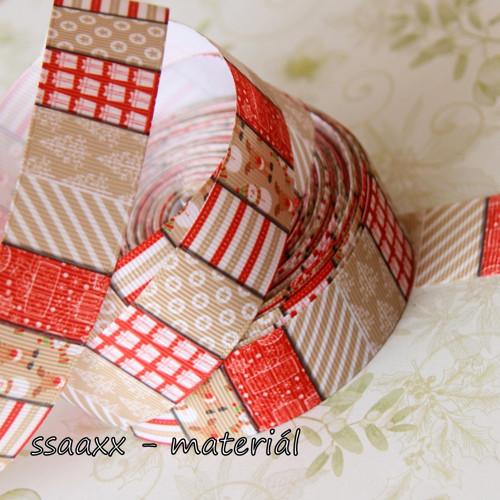 Rypsová stuha ~ 25 mm ~ vánoční patchwork