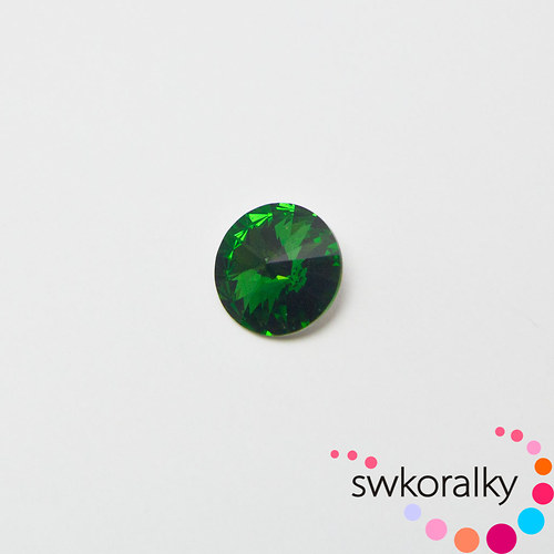 RIVOLI 12 SWAROVSKI ® ELEMENTS dark moss green