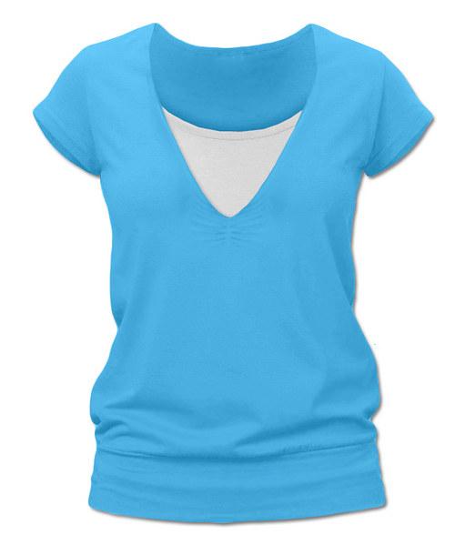 Kojicí tričko tyrkysová