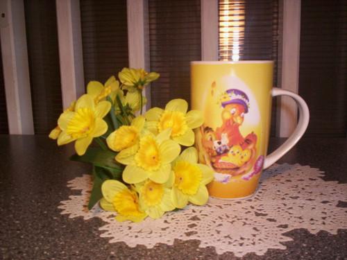 Jaro je tu!  ....pěkný velikonoční hrneček