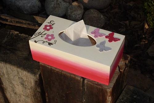 Krabička na kapesníčky ROMANTIKA
