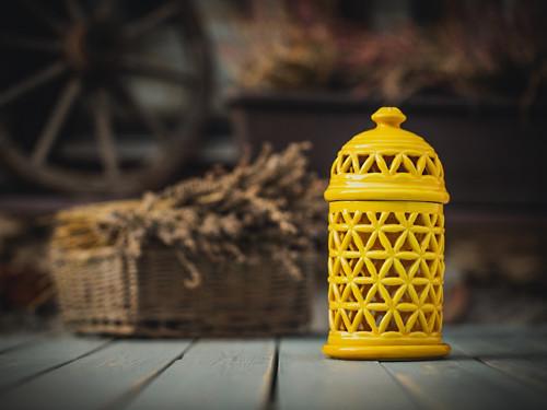 Aromalampa KVĚT ŽIVOTA - žlutá