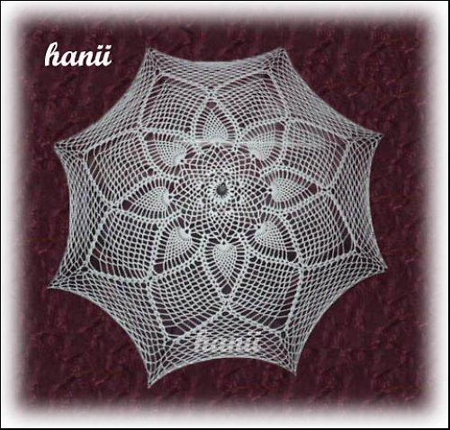 háčkovaný deštník/slunečník