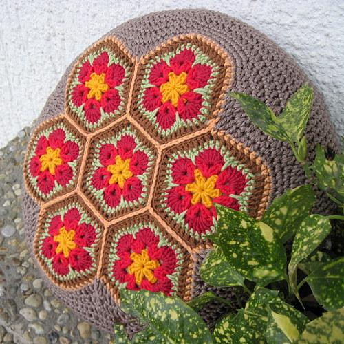 Sedák velký - Africký květ - červený