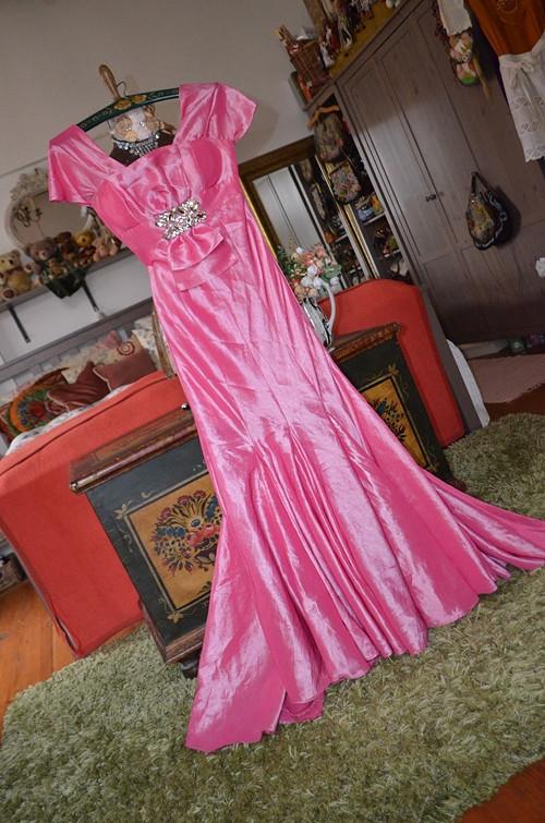 !!! Vintage šatičky růžové dechberoucí !!!
