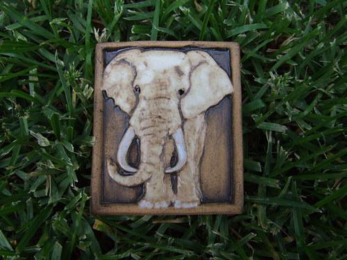 Magnetka keramická- slon