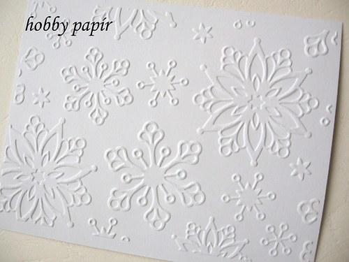 embosovaný papír -  vločka