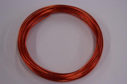 Hliníkový drátek 1,5mm oranžový - v návinu 6m