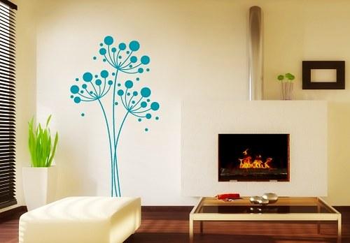 Samolepky na zeď - Kvetoucí travina (42 x 80 cm)