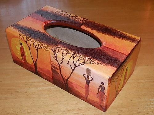 Krabička na kapesníky Afričtí domorodci