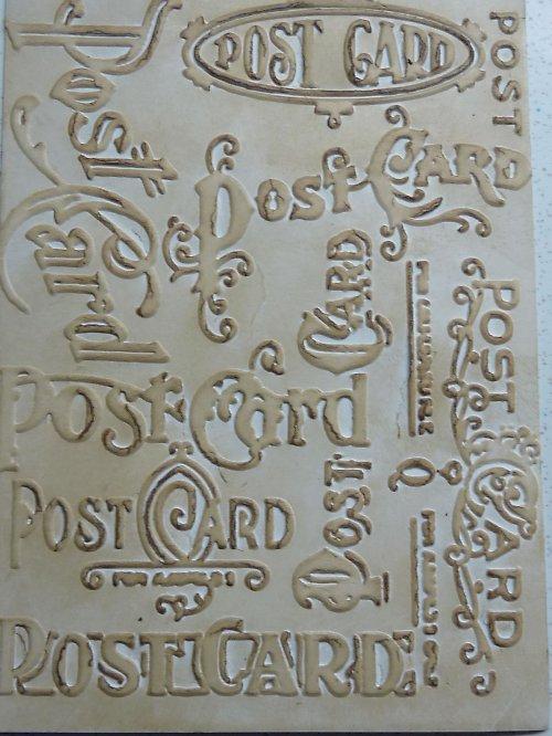 Embossovaný polotovar k dotvoření - pošta