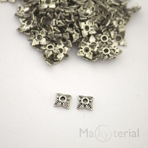 Kaplíky tibetské stříbro-lístkové kytičky - 30 ks