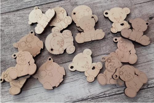 Dřevěná zvířátka - klíčenky 4 cm