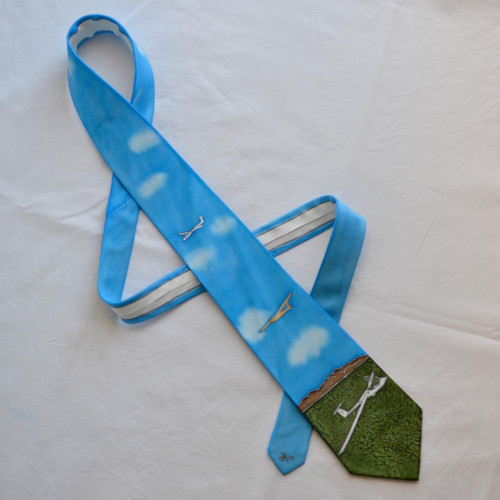 Hedvábná kravata s letadly na přání