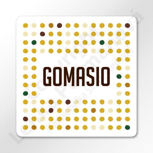 Gomasio - samolepka na kořenku