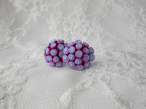 Spirálky fialkové-modré