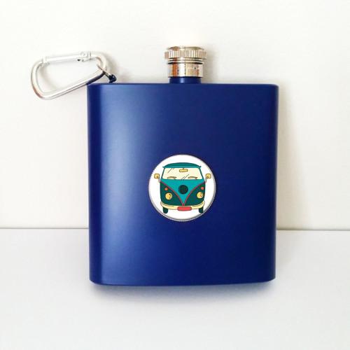 Placatka modrá HIPPIE VW BUS