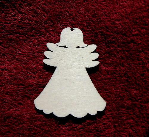 2D výřez andílek čistý -v.7,1x5,6cm