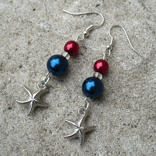 Náušnice s mořskou hvězdicí