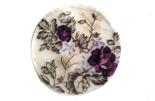 205 perleťové placky - fialové květy