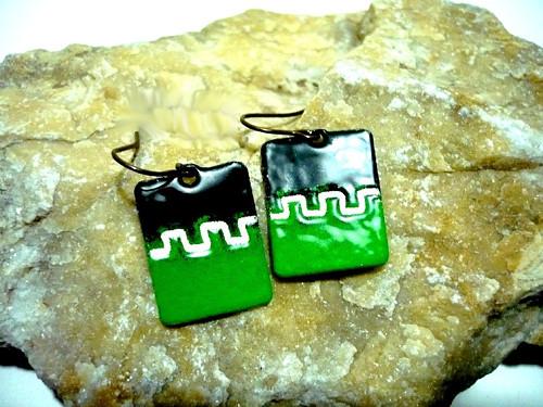 Zelené náušničky