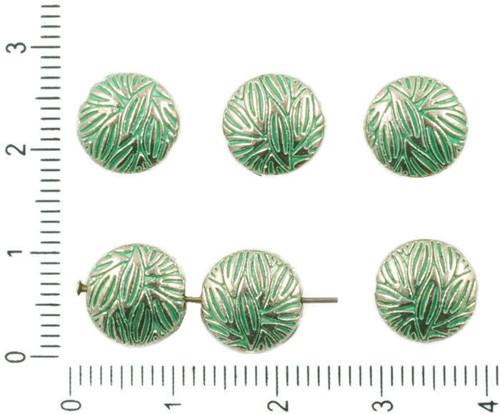 10pcs Starožitné Stříbro Tón Tyrkysová Zelená Pati