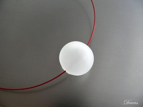 Náhrdelník 1 bublina Mat-větší
