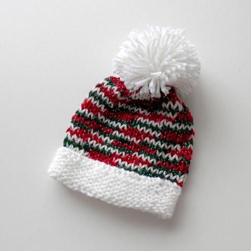 Pletená čepička z veselých barviček