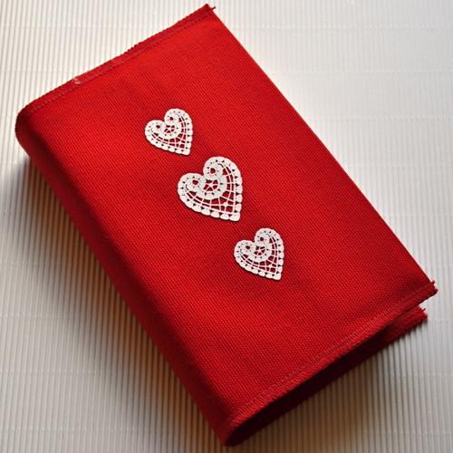 Srdce, červená - obal na knihu