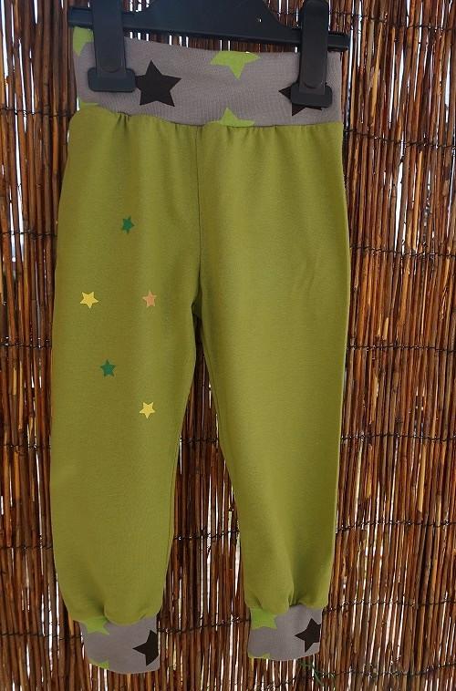Tepláky - kalhoty khaki, vel. 110