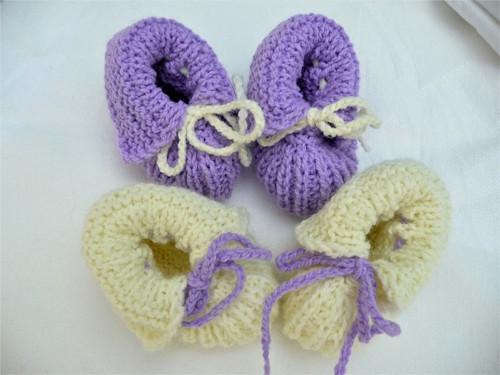Capáčky béžovo-fialové