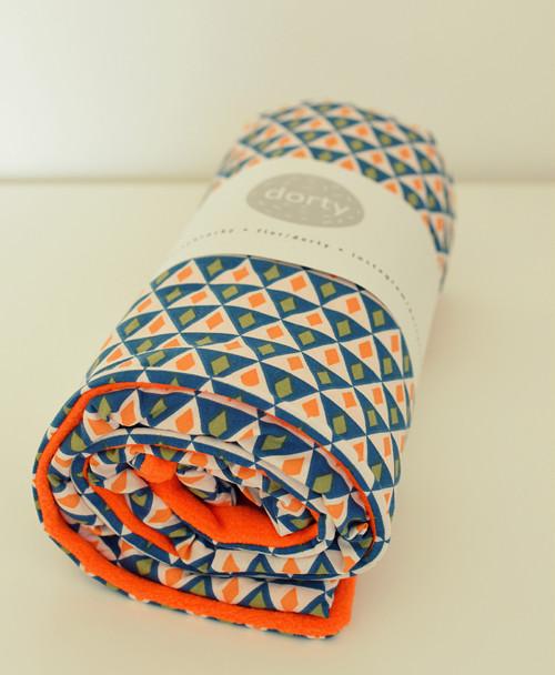 Ondráškova deka, fleecovo-bavlněná,trojuhelníčkatá