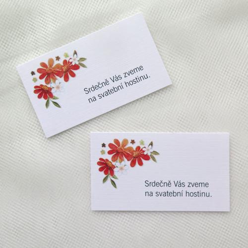 Pozvánka ke stolu KS27 - Červené kvítí