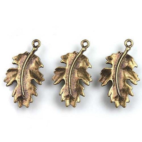 Bukový List - 2ks - Bronzový